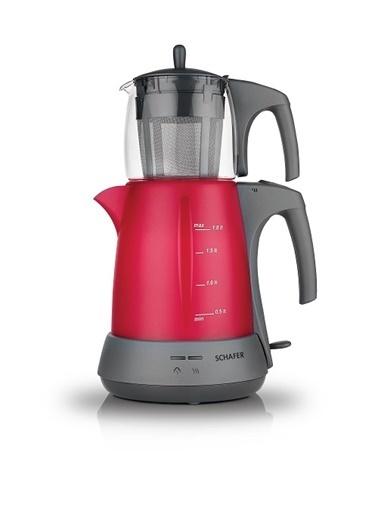 Schafer Stılle Elek. Çay Makinesi - Kırmızı Kırmızı